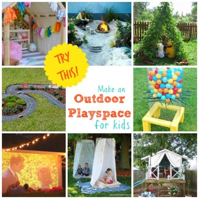 TRY THIS: Make an Outdoor Playspace for Kids