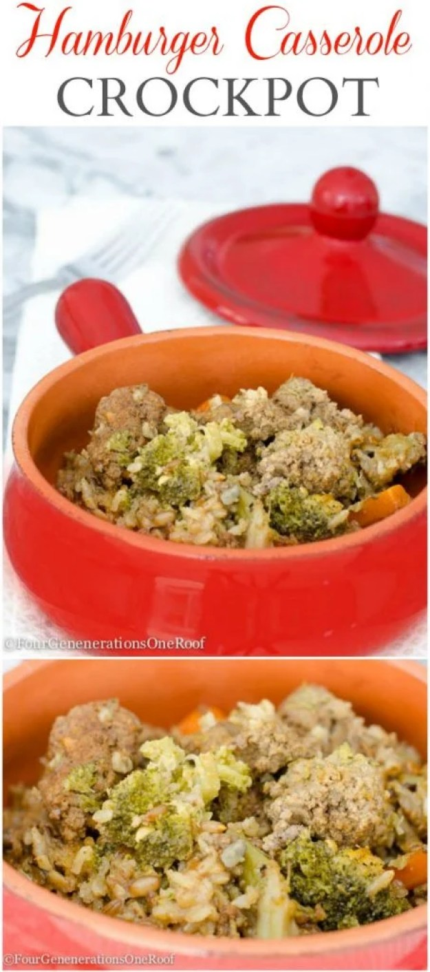 Hamburger casserole crockpot comfort food