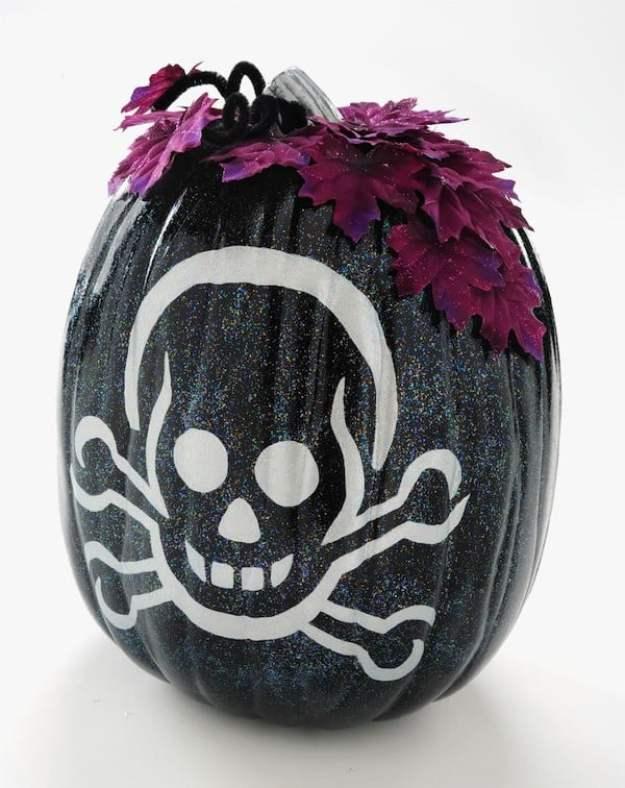 sparkly-black-skeleton-pumpkin