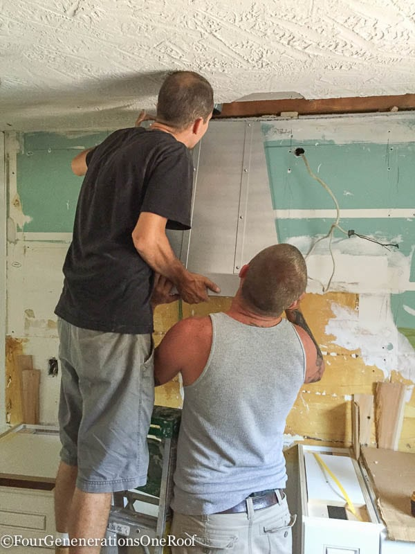 Our kitchen renovation series {installing hood vent}-15