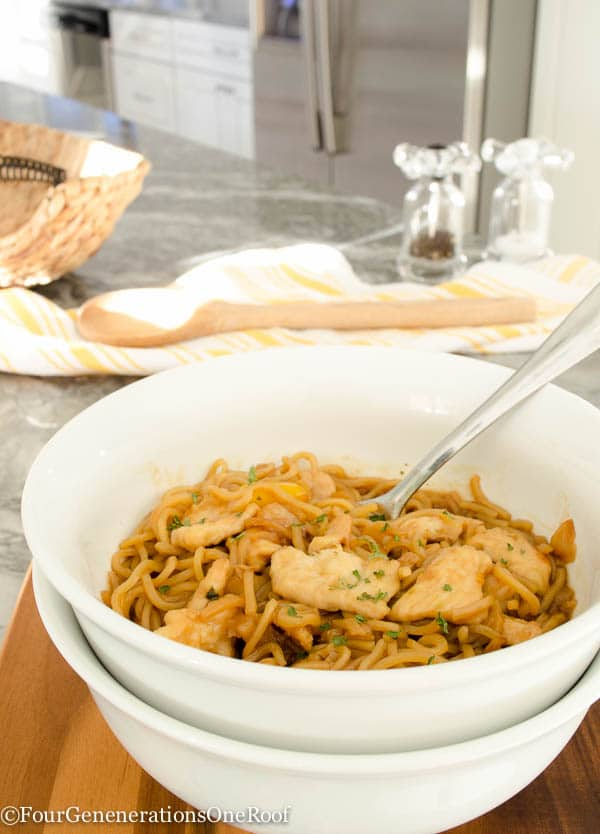 Easy Asian Chicken Noodles dinner