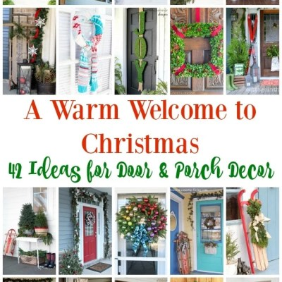 42 Christmas Ideas for Door + Porch Decor
