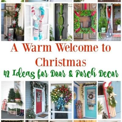 42 Christmas Ideas for Door + Porch Decor