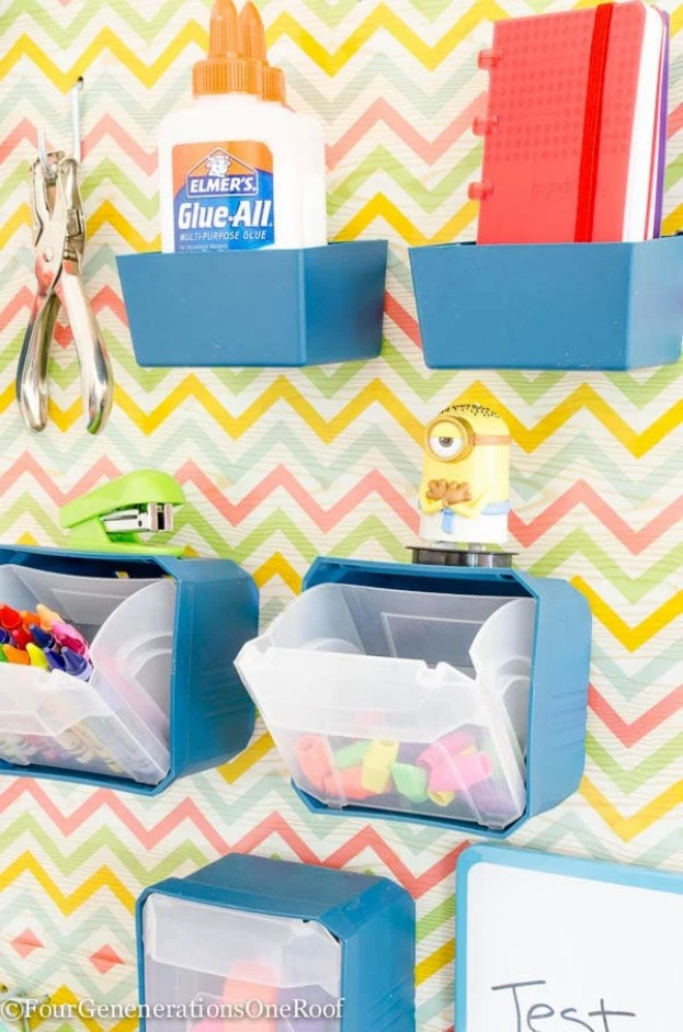 36 Tips for Getting Organized in 2016 Back-to-school-peg-board
