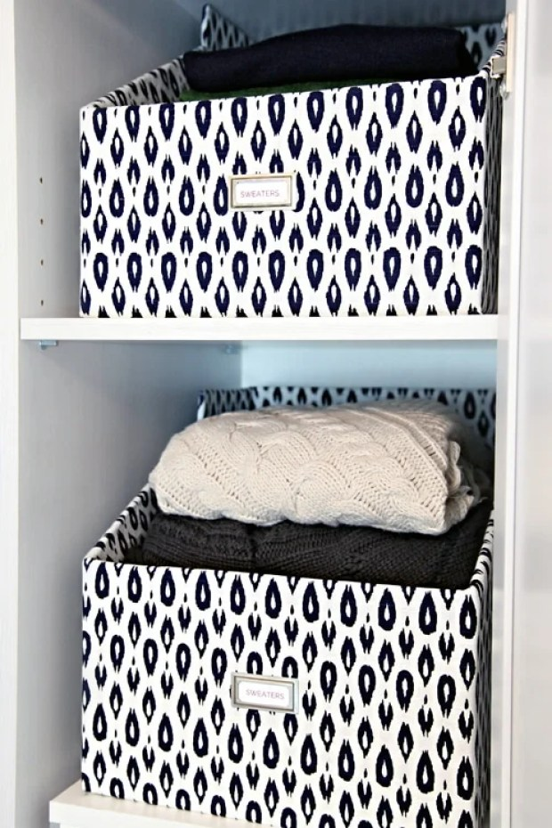 36 Tips for Getting Organized in 2016 DIY-sweater-boxes