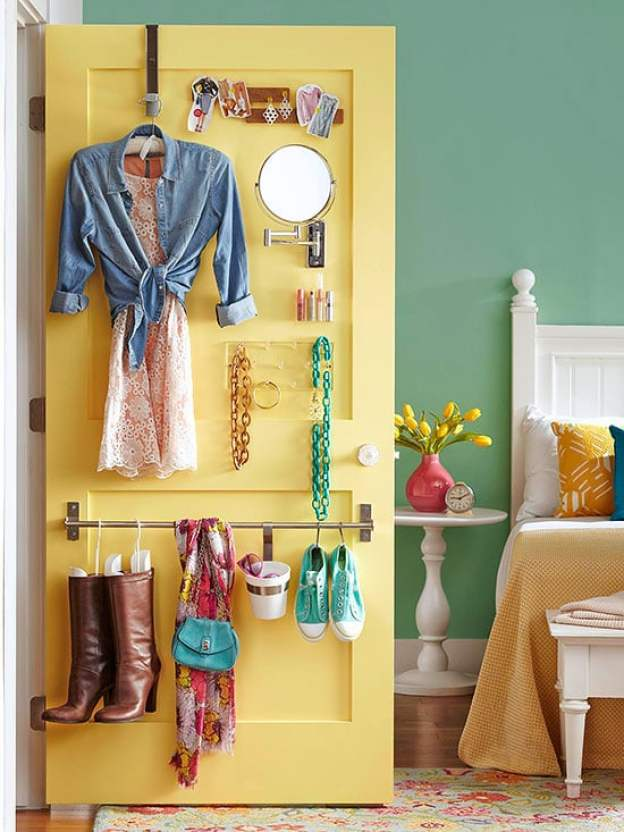 36 Tips for Getting Organized in 2016 closet-door-wardrobe-storage
