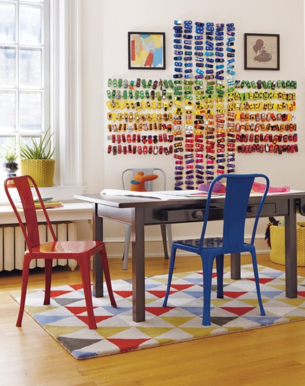 36 Tips for Getting Organized in 2016 magnetic-matchbox-mural