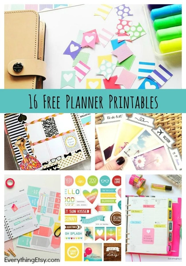Free Planner Printables from Everything Etsy