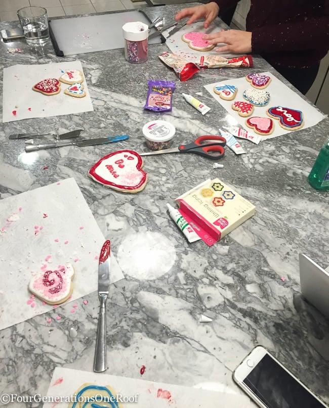 Decorating Valentines Day Cookies