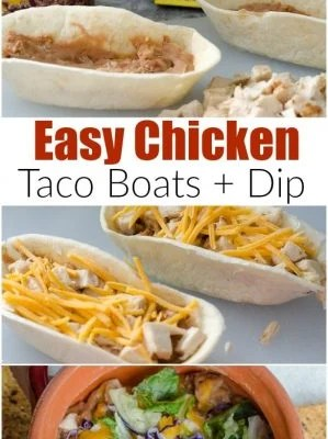 Mexican Chicken Taco Boat {Dip}