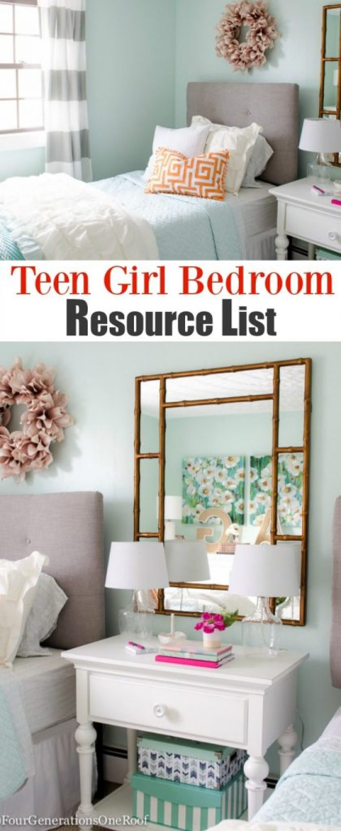 Girl bedroom makeover resource list
