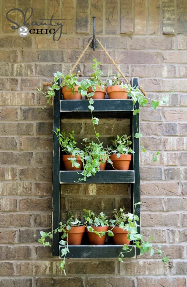 Wall Planter with terracotta planters