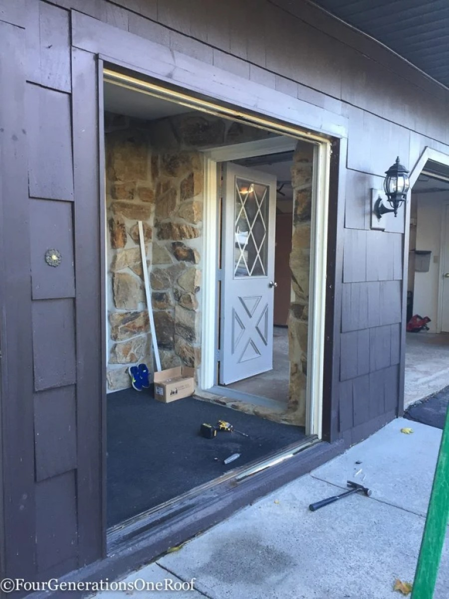 How to install a door / Installing new doors foyer renovation