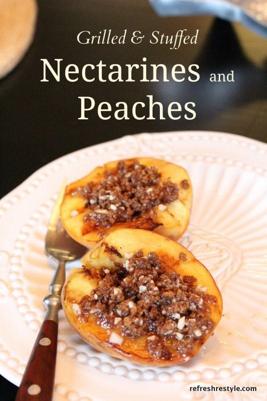 grilledandstuffed nectarines and peaches