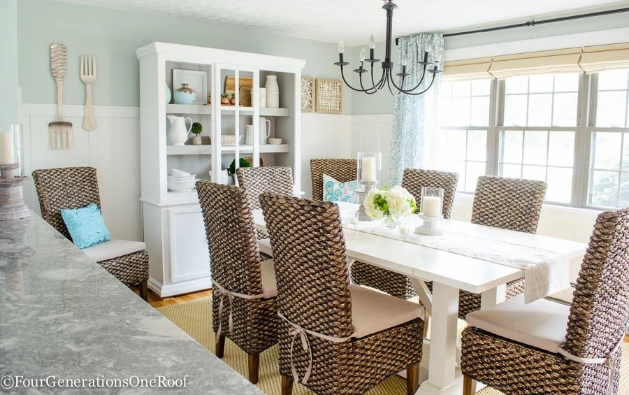Dining Room Makeover {coastal}-24