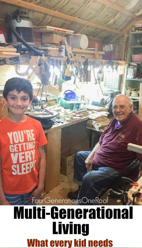 Grandfather's lesson to my son about patience - multigenerational living - what every kid needs