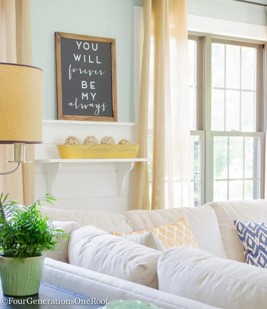 Living Room Summer Makeover