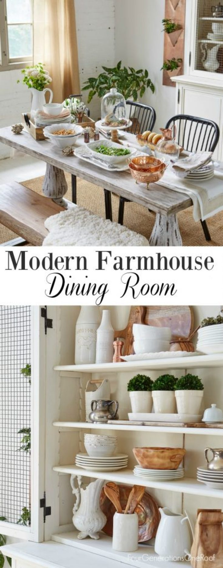 modern farmhouse dining room / Elements to a modern farmhouse space / How to create a modern farmhouse dining room /