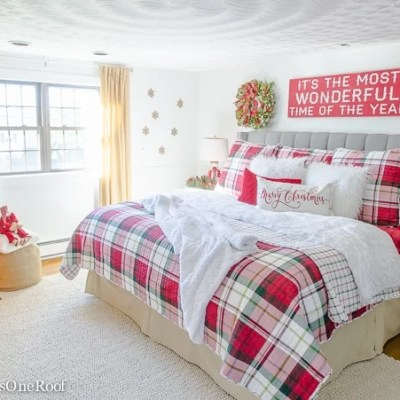 Our Plaid Christmas Bedroom