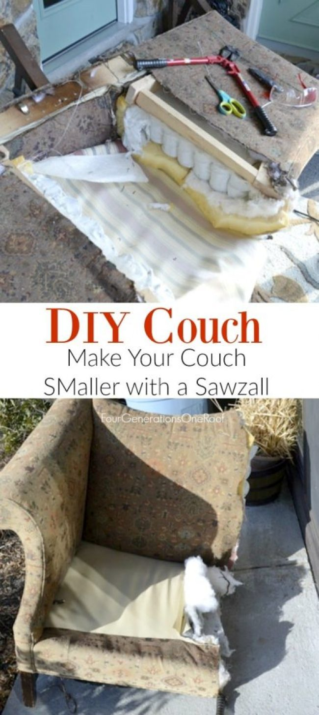 DIY COUCH | Easy DIY Reupholstering Tips and Tricks