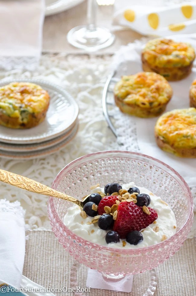 Easy Cottage Cheese Quiche Muffins