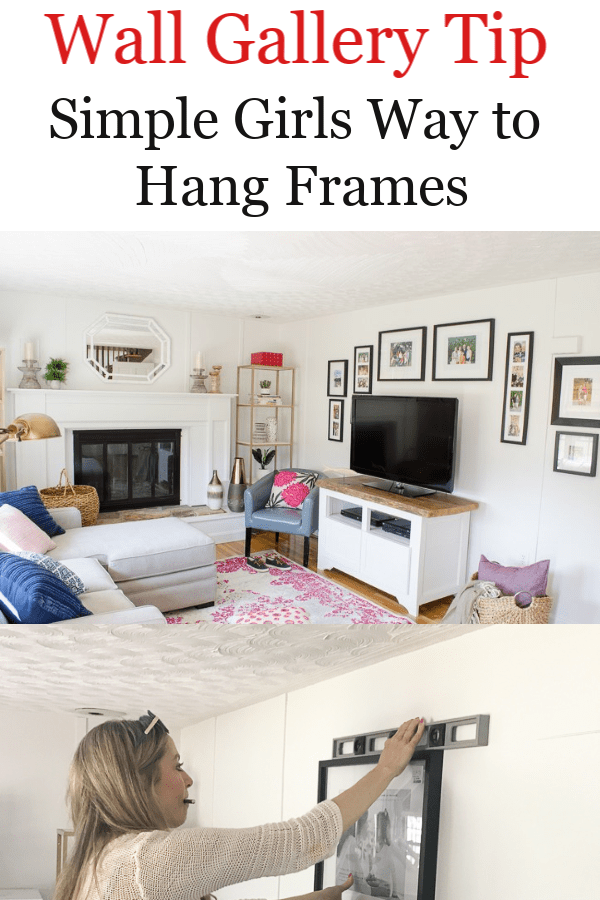 Wall Gallery Tip: Simple Girls way to hang wall frames, Fun Family Picture Wall Gallery