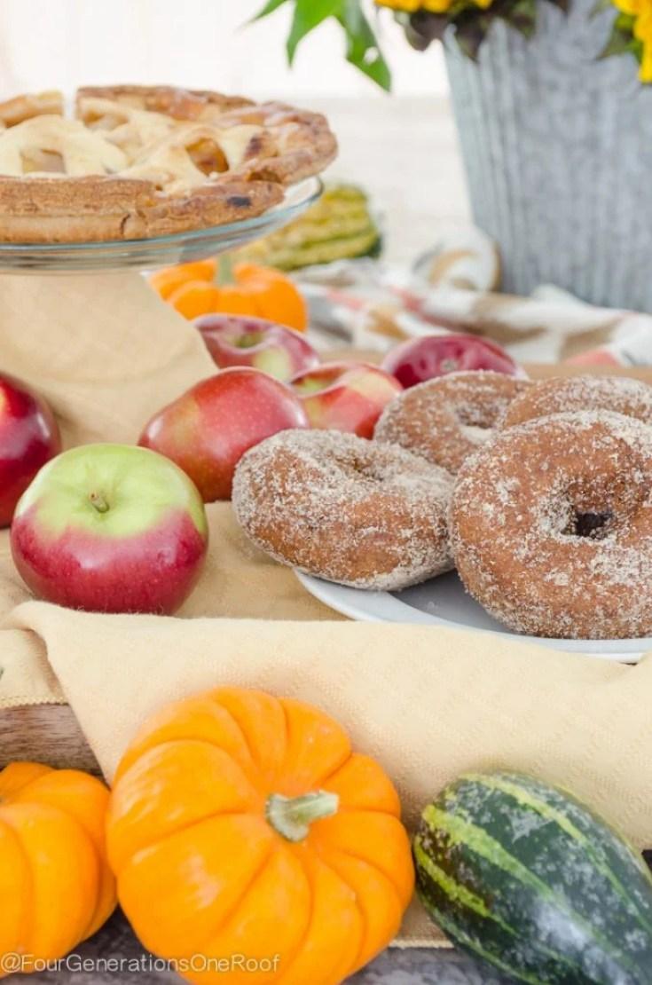 Fall Cinnamon Coffee + Apple Crisp Donuts