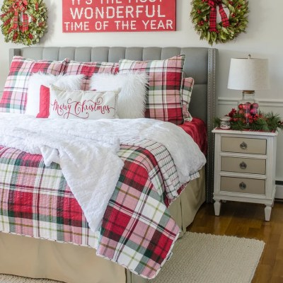 Buy Our Christmas Plaid Bedding Look Now