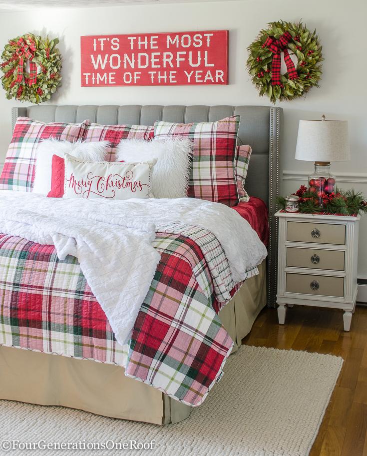 Buy Christmas Plaid Bedding Now