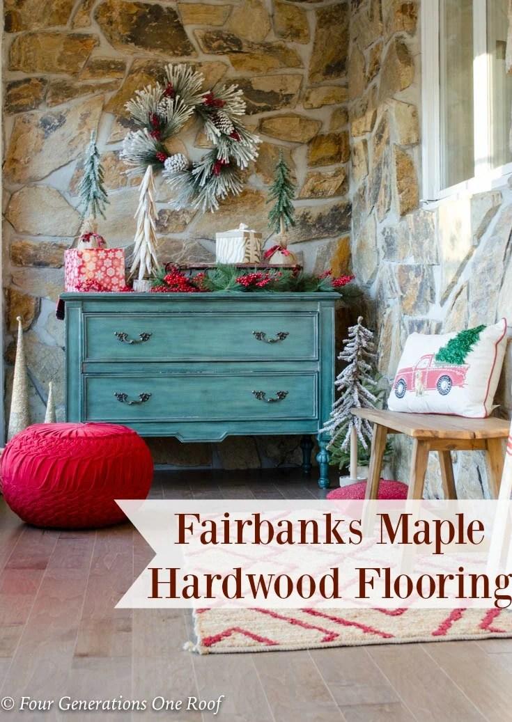 Beautiful New Maple Hardwood Flooring Foyer Entrance