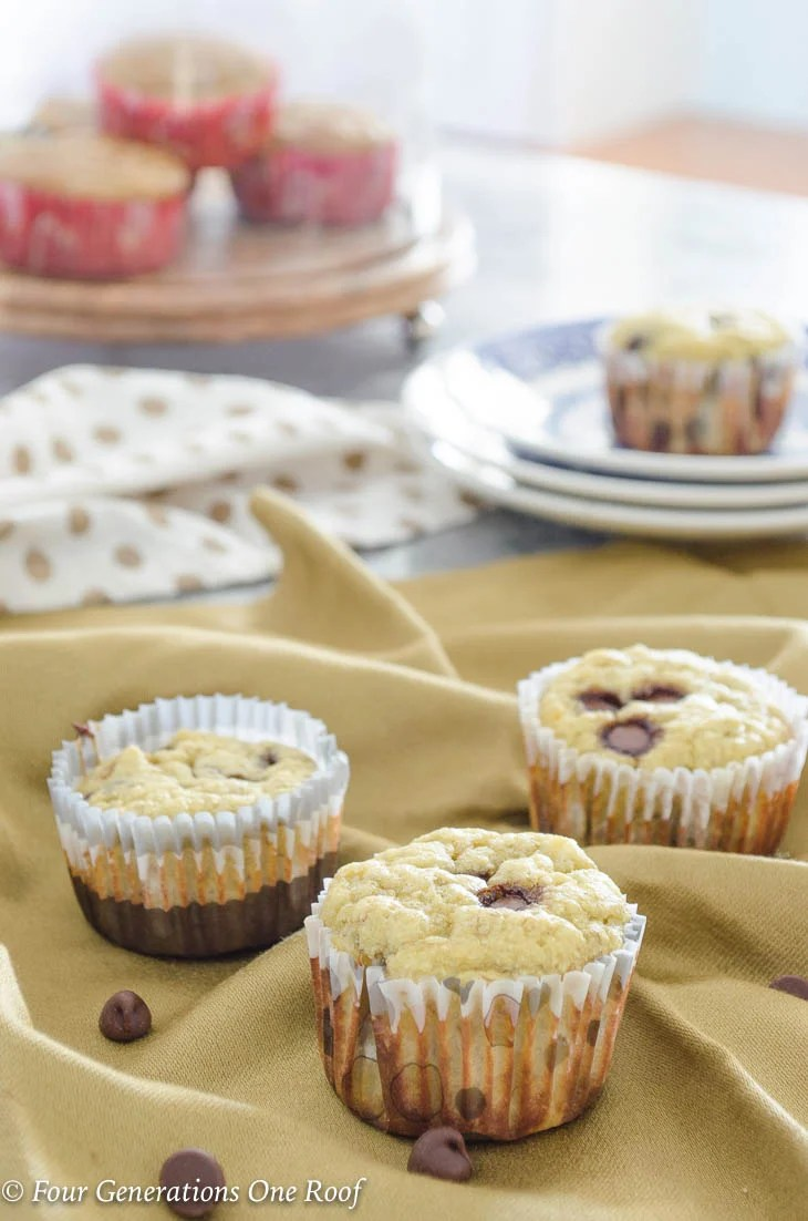 What is Coconut Flour & Why Use   Coconut Flour Banana Muffins with Chocolate Chips