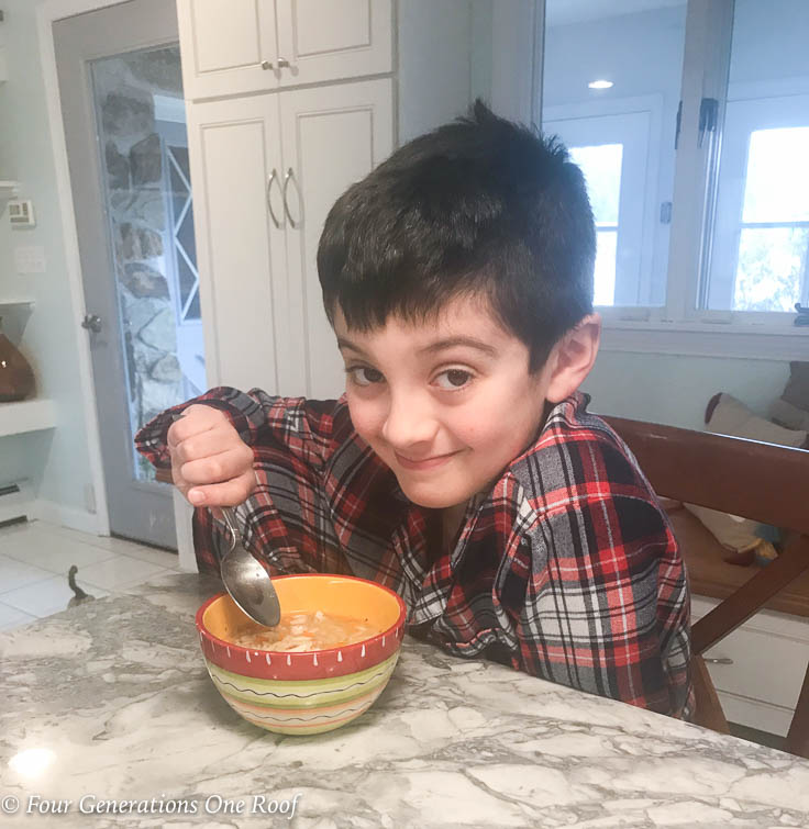 kids 30 minute Homemade Chicken Soup