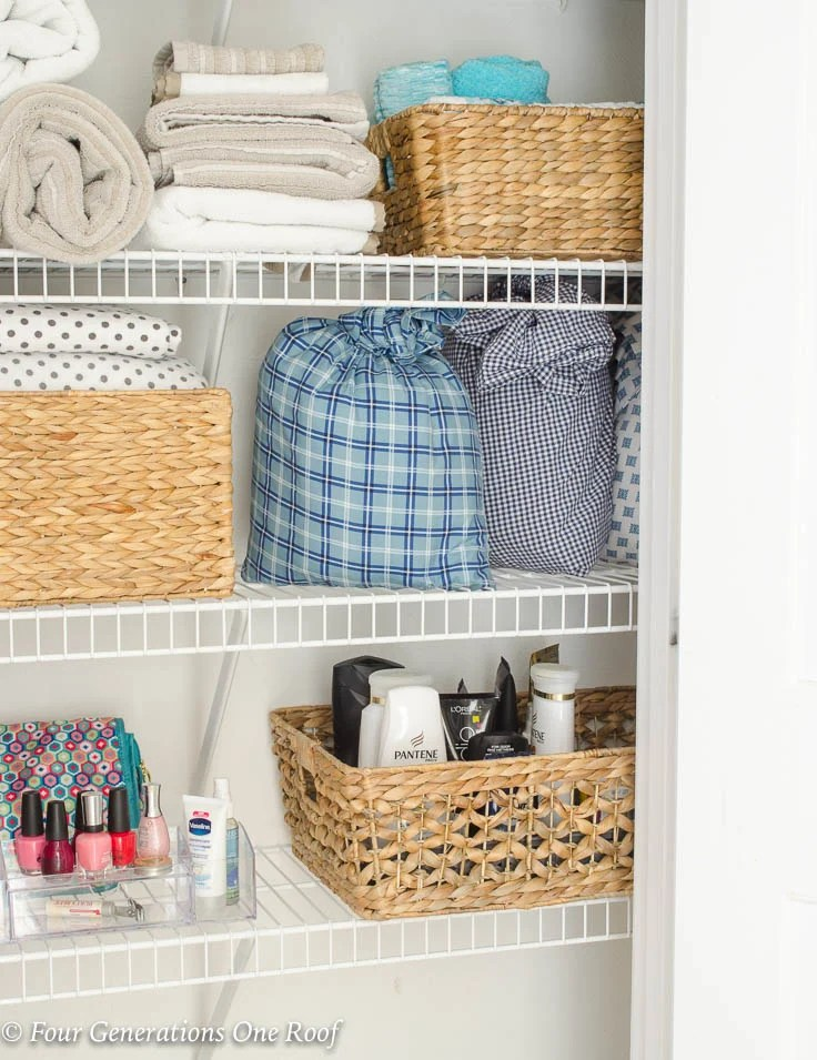 How to Store Bed Sheets In a Pillowcase   2 Minute Organizing Tips