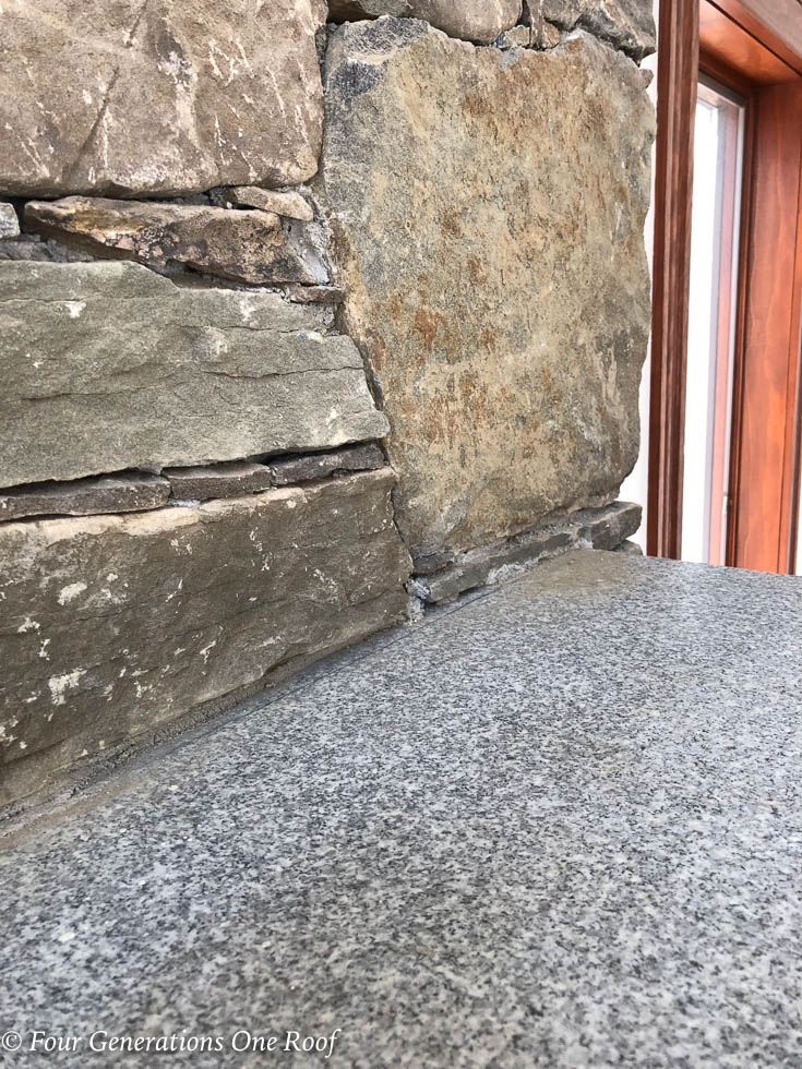 How to Remove a Granite Stone Mantel {our fireplace}