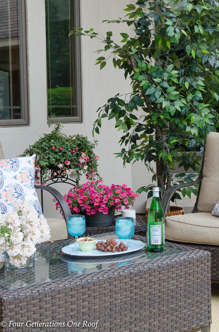 Big Backyard Patio Oasis Project complete {before and after reveal}