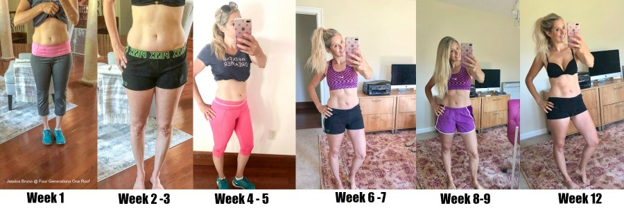 12 Week Weight Loss Body Comparison tips to increase energy