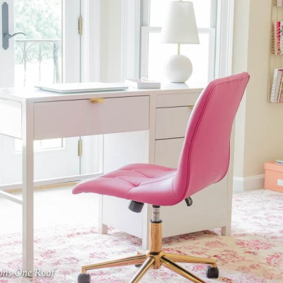 Sophisticated Adult Pink + Gold Glamorous Workspace