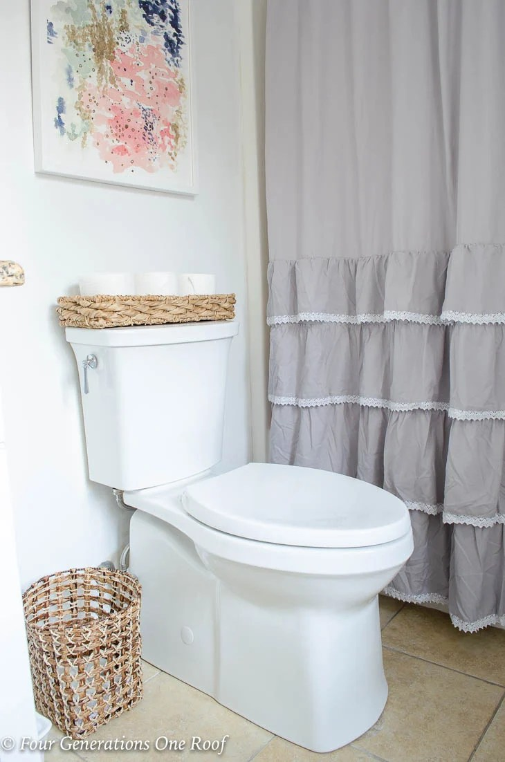 Narrow Bathroom Renovation, Kohler ContinuousClean Soft Close toilet