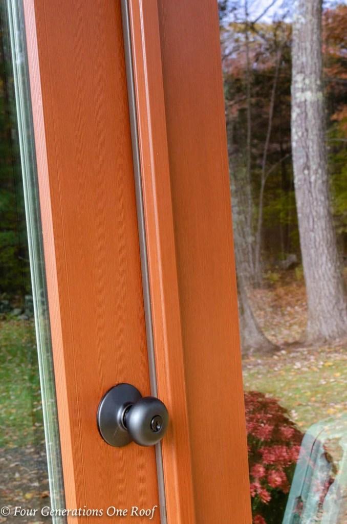 Full Lite Vista Grande Double Door Unit Cherry Color
