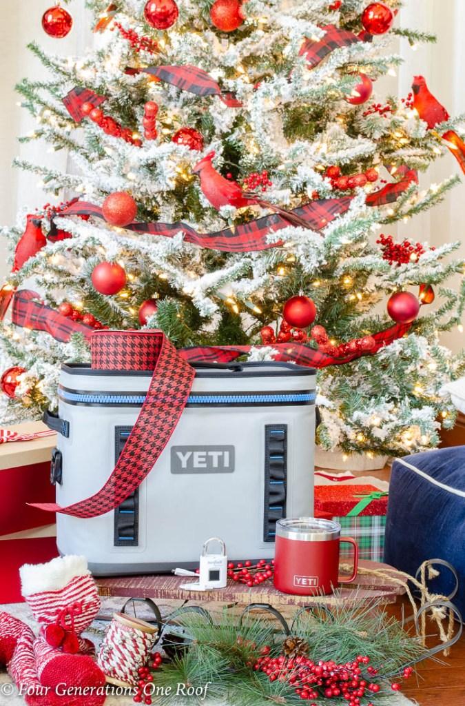 Cool Useful gift Ideas for everyone Yeti Hopper Flip Cooler Red Rambler Mug Biometric Lock