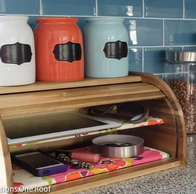 Bread Box Cell Phone Storage Charging Station