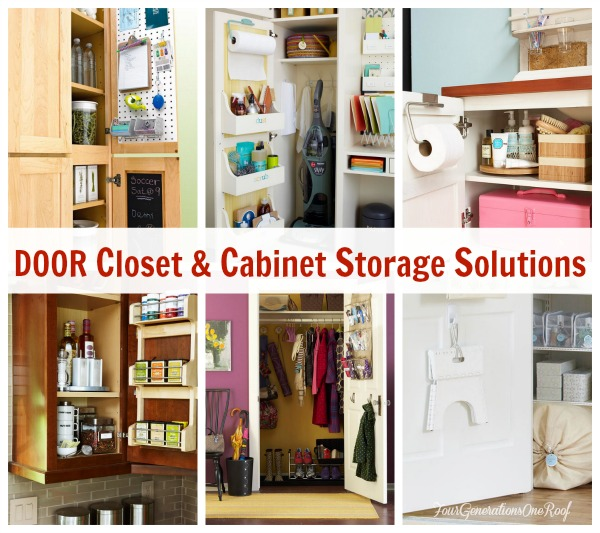Cabinet Door STorage ideas | Hanging door racks for small cabinet doors |