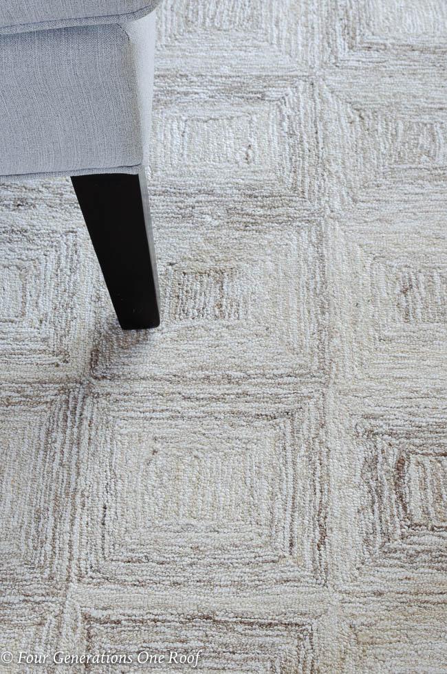 Escher Natural wool rug by Dash and Albert