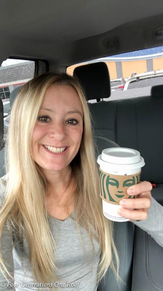 Multigenerational Family, mother daughter shopping day, Sunday Starbucks latte jessica bruno