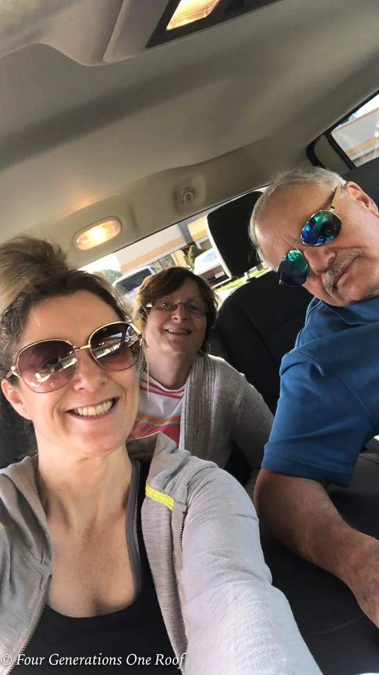 Jessica Bruno and her parents