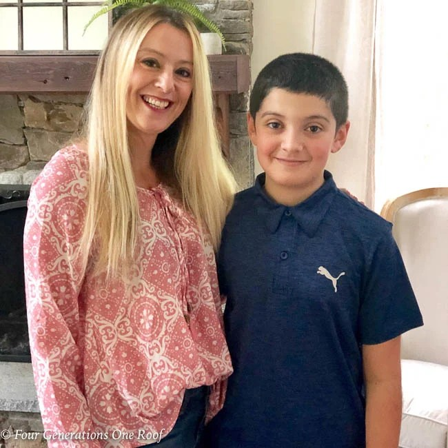 Jessica Bruno and her son on Mother's Day
