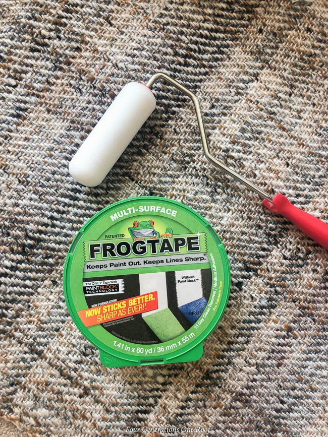 green Frogtape and 4 inch smooth roller brush
