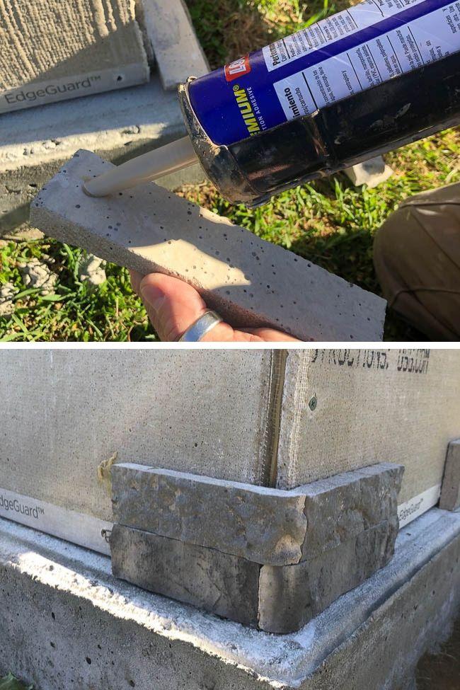 Loctite PL Premium Construction Adhesive to adhere Airstone Spring Creek stone