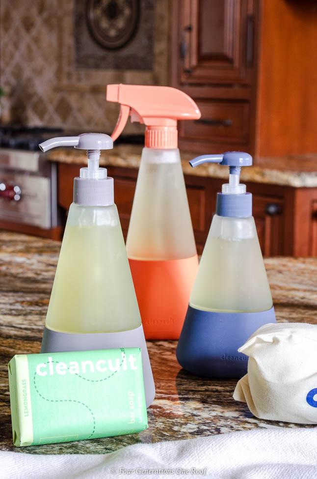 Cleancult shatterproof mosaic echo friendly bottles