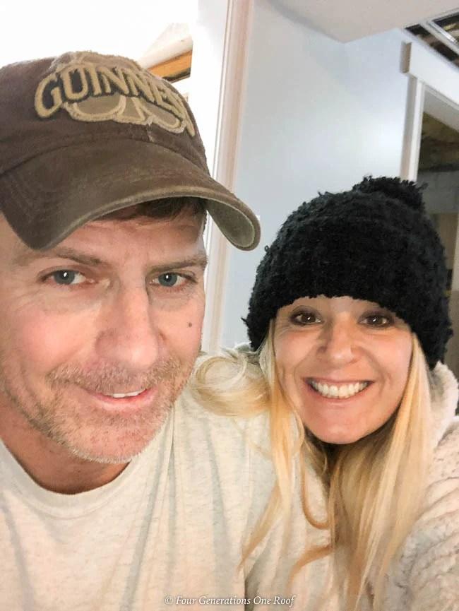 Jessica Bruno and boyfriend Jim basement renovation